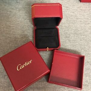 Cartier gift box with ring box